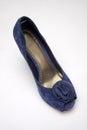 Blue high heeled shoe Royalty Free Stock Photo