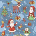 Blue holiday seamless pattern christmas background Stock Images