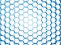 Blue honeycomb structure isolated on white background d render illustration Royalty Free Stock Photography