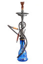 Blue hookah isolated on white Stock Photos