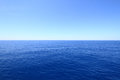 Blue horizon Royalty Free Stock Photo