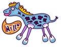 Blue horse says Hello Royalty Free Stock Photo