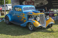 Blue hot rod Royalty Free Stock Photo