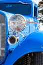 Blue Hot Rod in vertical format Royalty Free Stock Photo