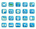 Blue Hotel Vector Icons Stock Photos