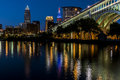 Blue Hour - Downtown Cleveland, Ohio Royalty Free Stock Photo
