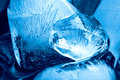 Blue ice Stock Photography