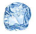 Blue ice cube Royalty Free Stock Photos