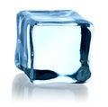 Blue ice cube Royalty Free Stock Photo