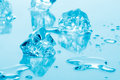 Blue ice cubes Stock Images