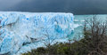 Blue ice glacier Perito Moreno and lake in Patagonia Royalty Free Stock Photo