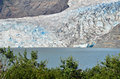 Blue ice the mendenhall glacier in juneau alaska Stock Images