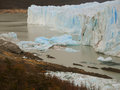 Blue ice ruins perito moreno glacier Royalty Free Stock Photo