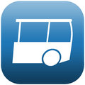 Blue icon bus and white illustration side view of a white Stock Photography