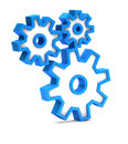 Blue icon with gears on a white background Royalty Free Stock Image