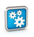 Blue icon with gears on a white background Royalty Free Stock Photos