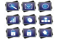 Blue icon Royalty Free Stock Photo