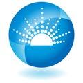 Blue Icon - Sun Royalty Free Stock Photo