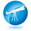 Blue Icon - Telescope Royalty Free Stock Photo