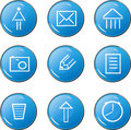 The blue icons with images Royalty Free Stock Photos