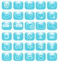 Blue icons internet Royalty Free Stock Images
