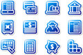 Blue icons. Set 8. Royalty Free Stock Photo