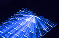 Blue Illuminated Keyboard, Light Trails Around Enter Key, Black Background