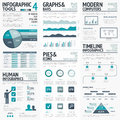 Blue infographics vector elements for business infographs Royalty Free Stock Photo
