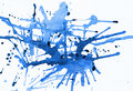 Blue Ink Splat Royalty Free Stock Photo
