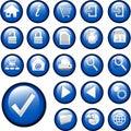 Azul icono