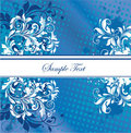 Blue invitation card Stock Photo