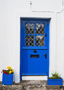 Blue irish door Royalty Free Stock Photography