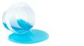 Blue isolated detergent Royalty Free Stock Photo
