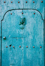Blue italian door abstract background Royalty Free Stock Photography