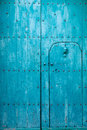 Blue italian door abstract background Stock Image