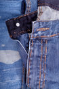 Blue jean pants closeup Royalty Free Stock Photo