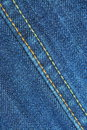 Blue jean seams Royalty Free Stock Photo
