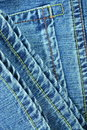 Blue jean seams Royalty Free Stock Photos