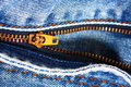 Blue Jean Zipper Royalty Free Stock Photos