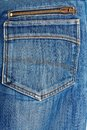 Blue jeans back pocket casual style beautiful Royalty Free Stock Photos