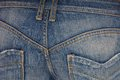 Blue jeans on buttocks is Stock Photo