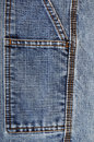 Blue jeans close up of stitching Royalty Free Stock Photo