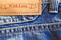 Blue jeans closeup Royalty Free Stock Image