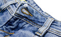 Blue jeans details Stock Photos