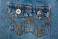 Blue jeans fabric with pocket Royalty Free Stock Images