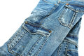 Blue jeans isolated on white background Royalty Free Stock Images