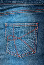 Blue jeans pocket. Royalty Free Stock Photo
