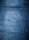 Blue jeans pocket jean on back of pants Stock Image