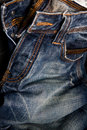 Blue jeans texture background Royalty Free Stock Photo