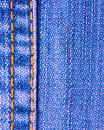 Blue jeans texture with stitch Royalty Free Stock Image